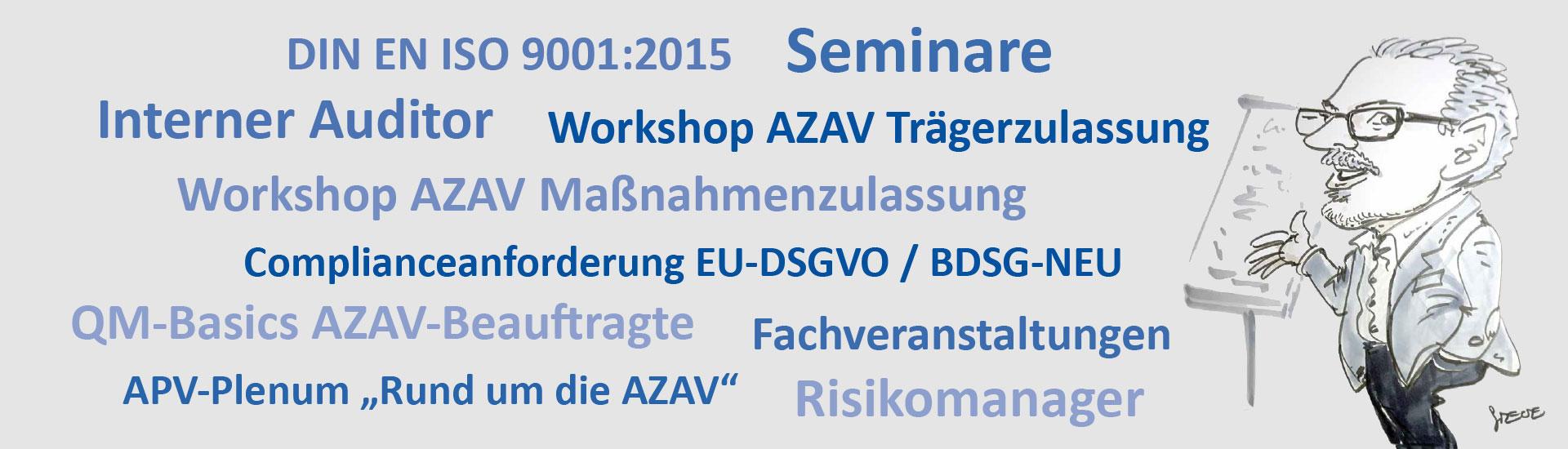 Begriffe zum Thema Seminare
