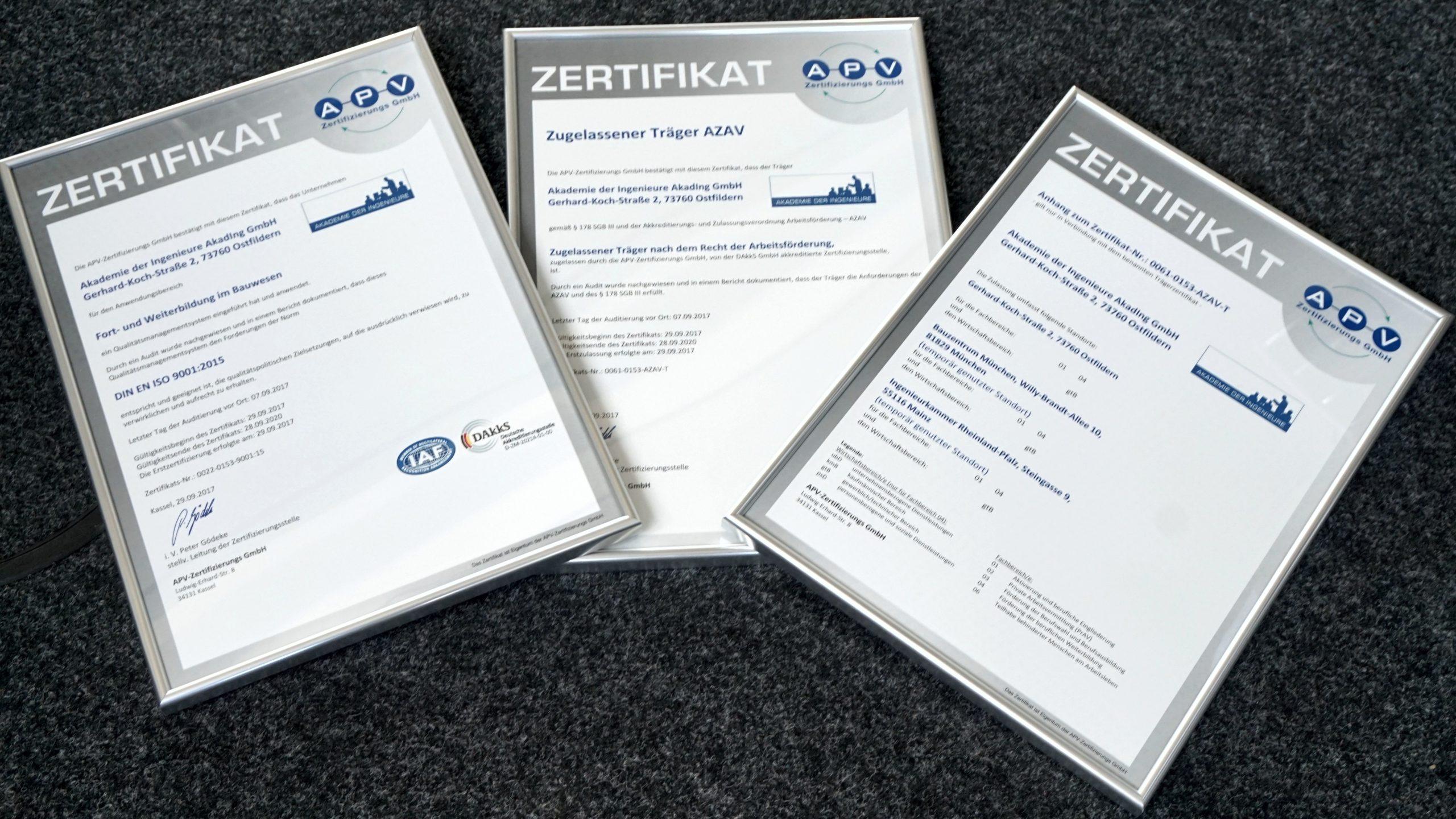 Kunden und Feedback | APV-Zertifizierungs GmbH